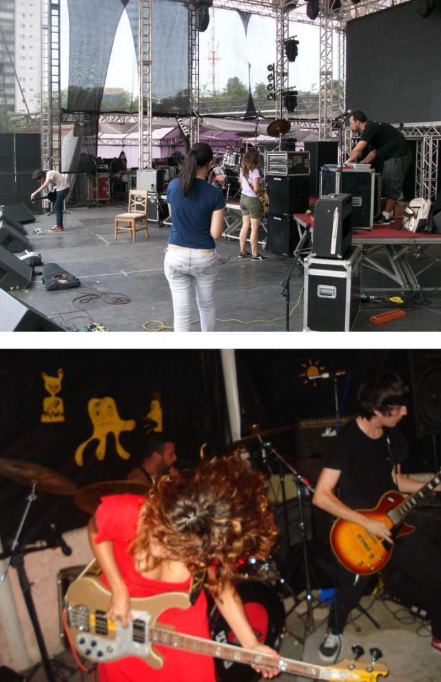 Soundcheck no Palco da FMB 2010 - BH(MG) e Show em Camaçari(BA)